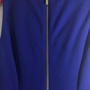 Calvin Klein Dresses - Calvin Klein blue sheat dress with gold zipper